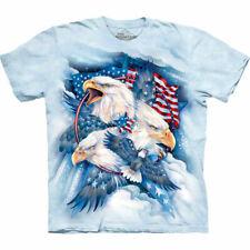 "Ref: MT4841""Allegiance Patriotic Eagle"" T Shirt The Mountain"" Unisex"