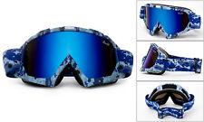 Blue Mirror Ski Goggles Winter Snowboarding Anti Fog Dual Lens Unisex UV Protect