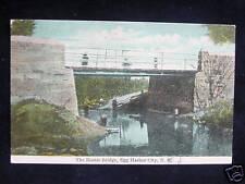 c.1910 Rustic Bridge Egg Harbor City NJ post card