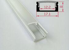 2 - 20 Mt profilo in alluminio per strisce strip led tappi e staffette incluse