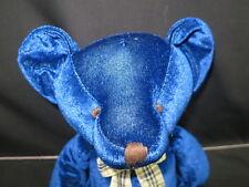 Russ Royal Blue Picasso Gingham Blue Soft Floppy Sits Plush Stuffed Animal