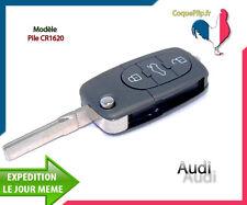 Coque Télécommande Plip 3 Boutons Audi A1 A3 A4 A5 A6 A8 TT Q7 + Clé Vierge