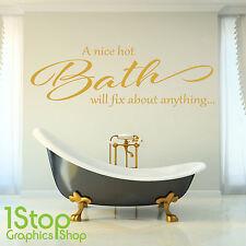 un bonito fucsia baño Frase En Una Calcamonía Mural - Ducha Baño Baño X382
