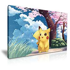 POKEMON Pikachu Canvas Framed Print Wall Deco ~ More Size