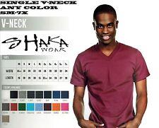 SHAKA WEAR MENS V-NECK T-SHIRT SINGLE ANY COLOR FREE SHIPPING SM-7X