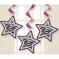 cebra Pasión De Rayas Rosa Estrellas Fiesta Colgante Remolino Decoración