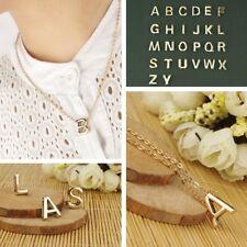 Women Gold DIY Capital Letter Name Alphabet Initial Link Chain Pendant Necklace