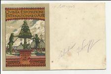CARTOLINA ANTICA QUINTA EXPO D' ARTE 1903 VENEZIA