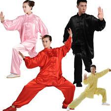 China Kung fu Tai chi Martial Arts Shaolin Wing chun suit uniform clothes silk L