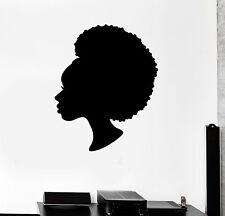 Vinyl Wall Decal Black Lady Beauty Salon Woman Hair Stylist Stickers (ig4437)
