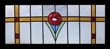 Stunning Antique English Mackintosh Rose Stained Glass Window