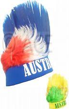 Aussie Australia Day Australian Fan Headband Party Sports Mohawk Mohican Wig