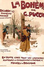 Vintage français OPERA Poster la bohème Poster A3 imprimer