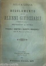 SICILIA_PALERMO_GIURIDICA_SABATINO_MANGIANELLI_CANCELLERIE_TESTO DI LEGGE_1900