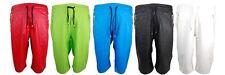 Mens Smoke Rise PU Faux Leather Shorts Zipper Front Pockets Back Pocket M-XL