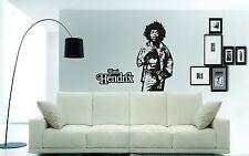 JIMI Hendrix Wall Art Adesivo, Decalcomania, murale, include testo, immagine Elegante