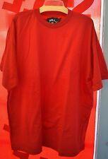 New MEN's T Shirt 2XL 2XLarge Cotton RED Short Sleeve DNLA Men