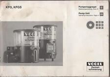 2001 KFG, KFGS PUMP UNIT OPERATING MANUAL