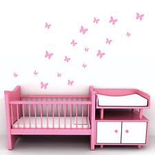 18 Pack of Butterflies - Vinyl Wall Art - Kids Bedroom Nursery Decal Stickers
