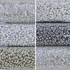 Miyuki Rocailles 15/0 rund 1,5 mm silber 5g = 1 Röhrchen
