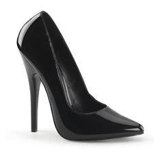 Black Shiny Pointy Toe Heels Mens Crossdresser Drag Pumps Womans size 14 15 16