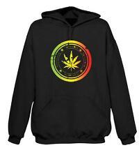 CANNABIS LEAF HOODY - Marijuana Ganja Spliff Rasta Bong T-Shirt - S to XXL