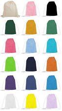 TOP 100% Cotton Drawstring Rucksack Backpack Tote Bag School Gym PE Book P E lot