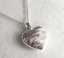 925 ECHT SILBER *** Herz Anhänger diamantiert 17x17 mm, Kette optional