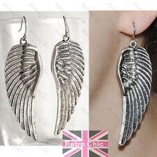 BIG ANGEL WING rockabilly EARRINGS/RING large wings BLACK/SILVER/GOLD FASHION