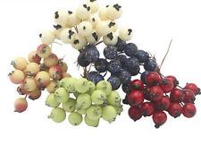 50pcs Mini Fake Fruit Berries Artificial Pomegranate Cherry Stamen Home Decor