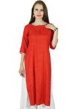 Bimba Women Summer Rayon Kurta Kurti 3/4 Sleeve Formal Casual Tunic- Custom