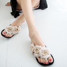 Sandali ciabatte donna sabot basse beige fiori  fashion bassi comodi 1204
