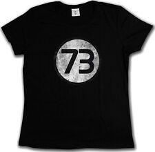 T-SHIRT BLACK NUMBER 73 VINTAGE LOGO - The Sheldon Big Nerd Bang Theory S-3XL