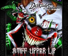 """KAWASAKI 1993-2012 KLX250 KLX300 """"STIFF UPPER LIP"""" GRAPHICS WRAP DECALS KIT"""
