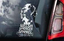 Welsh Springer Spaniel on Board - Car Window Sticker -English Dog Decal Sign-V01