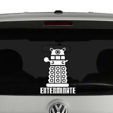 Doctor Who Dalek Exterminate Vinyl Decal Sticker Car Window