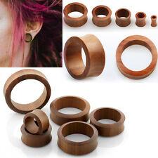 "Pair Flesh Tunnels Sawo Wood Double Flare Ear Plugs Gauge Organic Jewelry 8G-2"""
