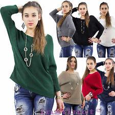 Maglione donna maglia pullover maniche pipistrello lana maglia costine IS502