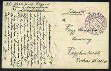 "AUSTRIA 1917 ""MARINE FELDPOST"" POST CARD RED & BLACK"