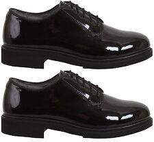 Oxford dress shoes uniform high gloss black Rothco 5055 various sizes Reg & Wide