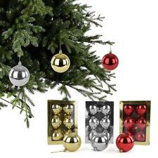 set da 6 o 18 PALLE DI NATALE - sfere natalizie decorazione abete lucide