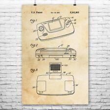 SEGA Game Gear Poster Art Print Video Game System Retro Video Games Gamer Gift