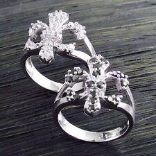 CLOSEOUT! Genuine Sterling Silver Fleur De Lis .57 Carat CZ Ring Only $9.99
