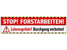 """Banner oder Aufkleber """"FORSTARBEITEN"""" Holzfällung Baumfällung PVC-Banner Sticker"""