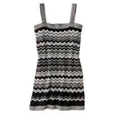 MISSONI FOR TARGET-WOMENS DRESS-BLACK/WHITE-ZIGZAG-SIZE S