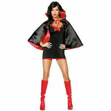 Ladies sexy fancy dress vampire bat Cape halloween party black Size 12 14 16