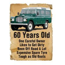 60 Años 60 Cumpleaños Regalo Land Rover Funny estúpido Tees Camiseta