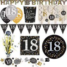 18. Geburtstag Party Deko Zahl Gold Silber Schwarz Dekoration Set Zahl Jubiläum