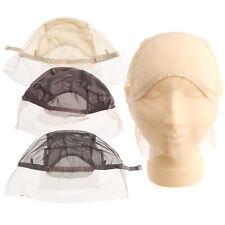 Fishnet Wig Cap Strap Weaving Mesh Hair Net Elastic Lady Lace Front Fancy Party