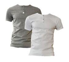 Carlo Colucci Herren Henley SHIRT Kurzarm T-Shirt auch Unterhemd Unterwäsche